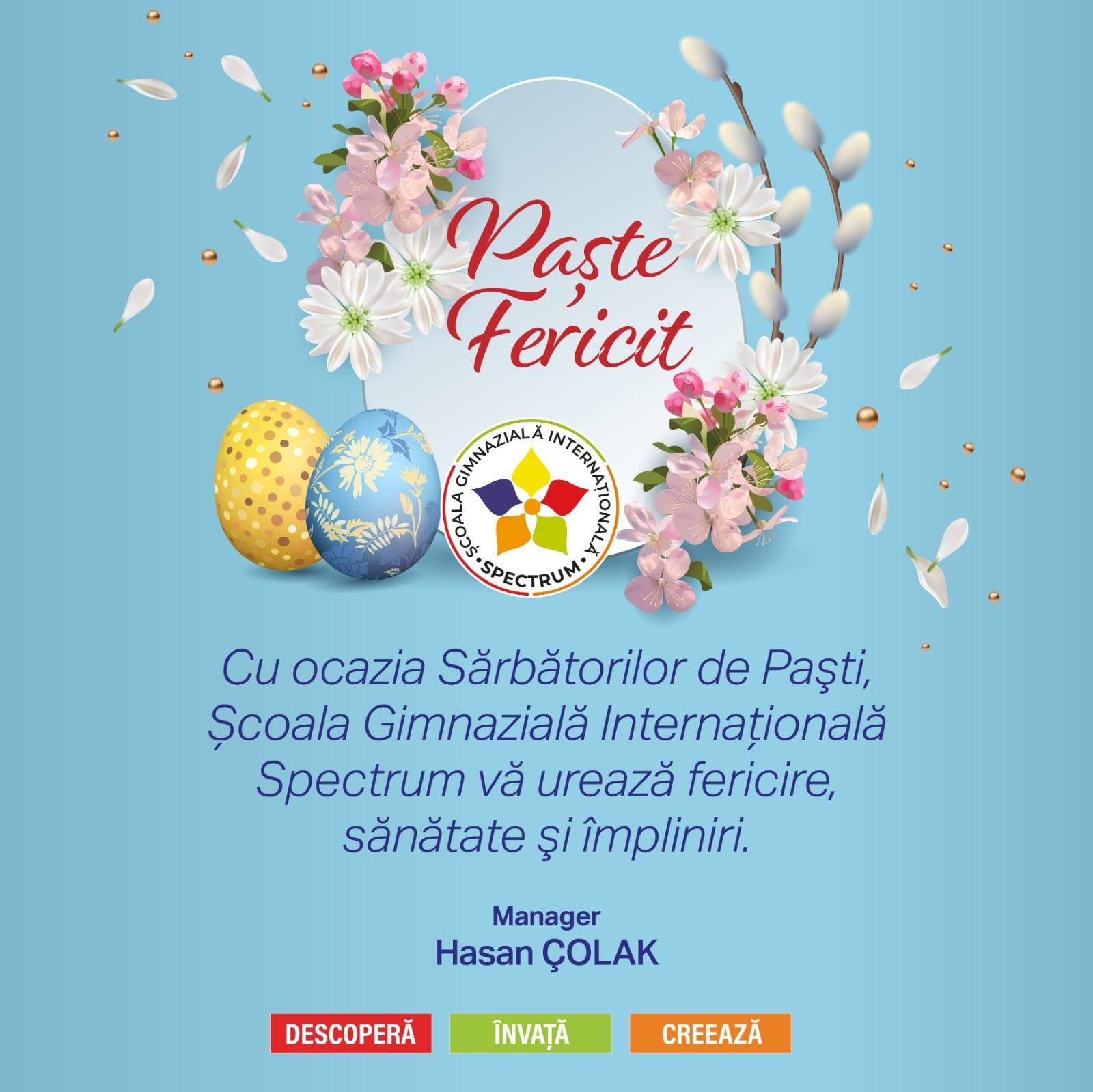 Vă dorim Sărbători Pascale Binecuvântate!